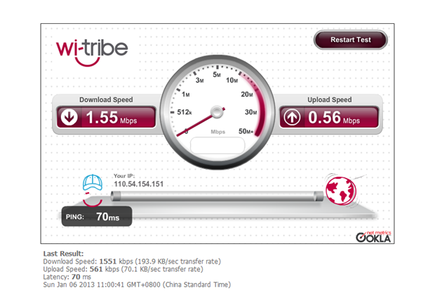 Wi-Tribe Speed Test Tool