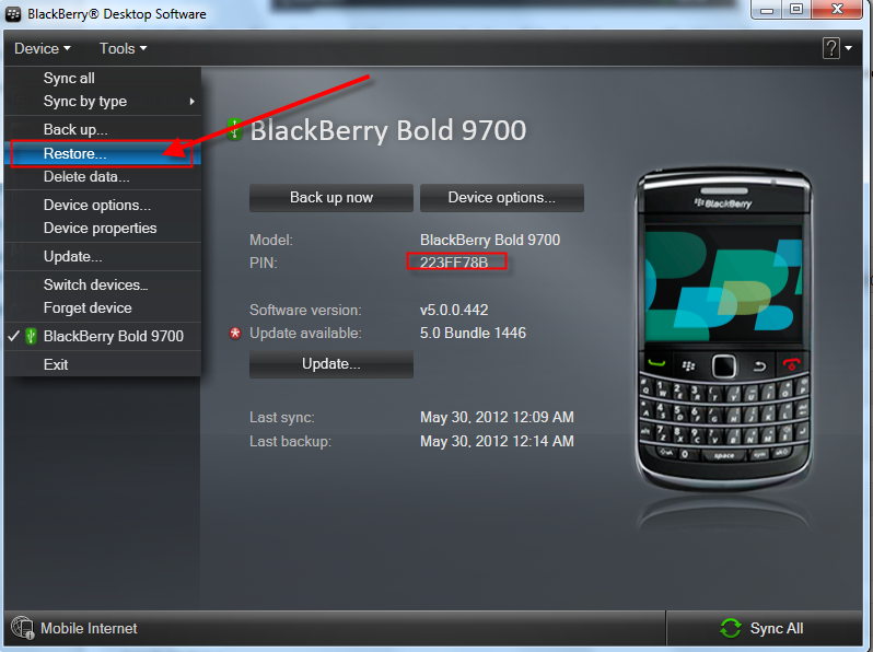 Blackberry Bold 9700 Restore How To Backup And Restore Blackberry Messages And Contacts