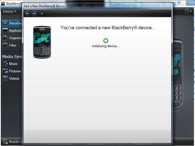 Connect Blackberry Blackberry Desktop Manager