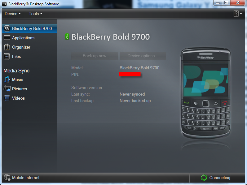 Connection Blackberry Desktop Manager How To Backup And Restore Blackberry Messages And Contacts