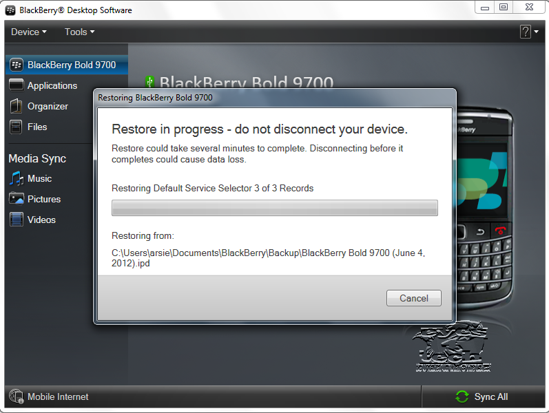 Restoration In Progress How To Backup And Restore Blackberry Messages And Contacts
