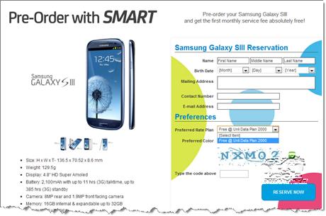 Samsung Galaxy S III Smart Pre-order