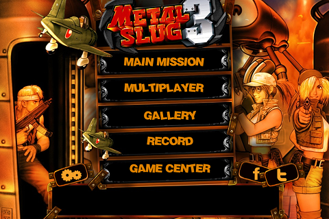 Metal Slug 3 - Main Menu