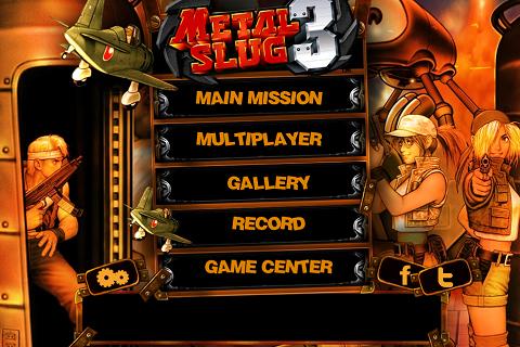 Metal Slug 3 - Main Menu