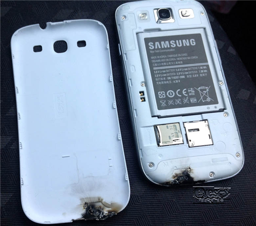 Samsung Galaxy S III Melted Down