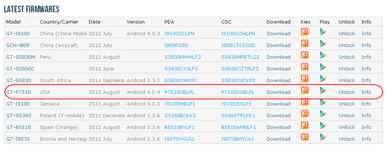 Android 4.0.4 Update for Samsung Galaxy Tab 10.1 Wi-Fi GT-P7510