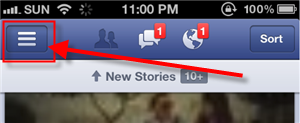 Facebook For iPhone version 5 Menus