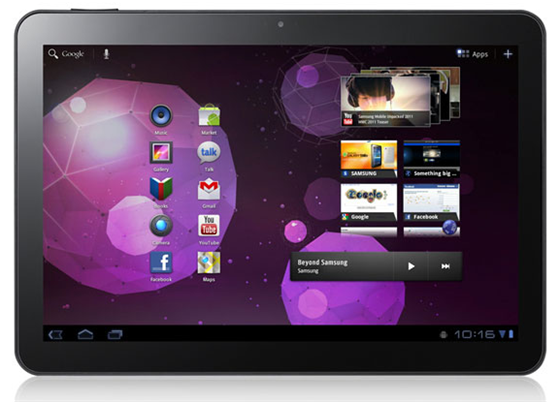 Samsung Galaxy Tab 10.1 Top 5 Android Tablets Now In The Market