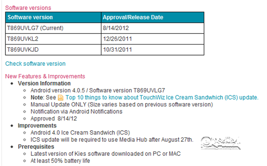 T Mobile Support T Mobile Samsung Galaxy Tab 7.0 Plus Ice Cream Sandwich Update