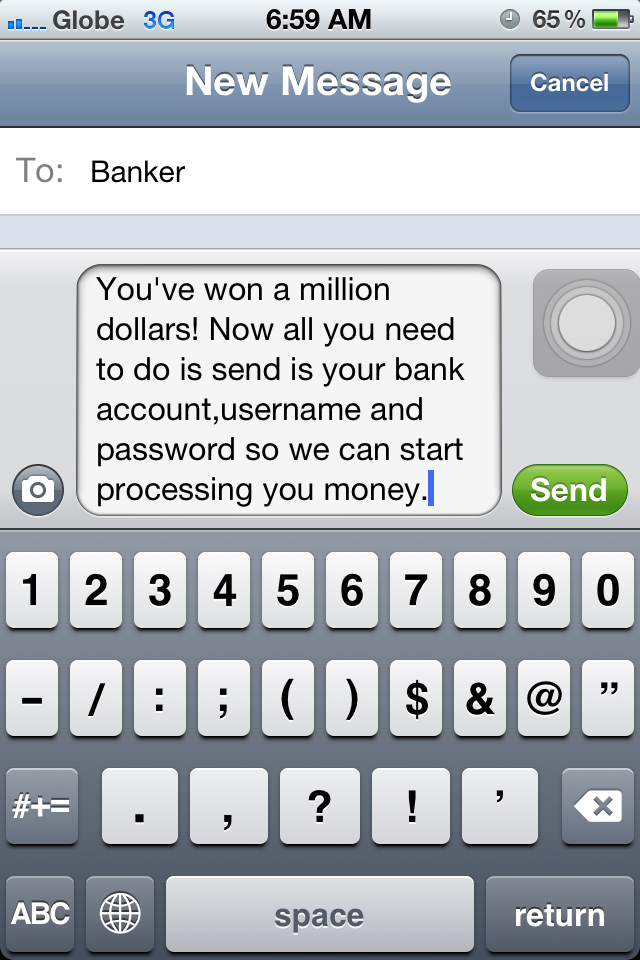 iPhone Phishing Attack