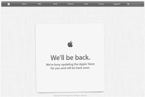 Apple Store Now On Maintenance Apple Store Now Under Maintenance Prepping For iPhone 5 And Other New Products