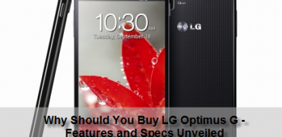 LG Optimus G Revealed Aiming Unique User Experience