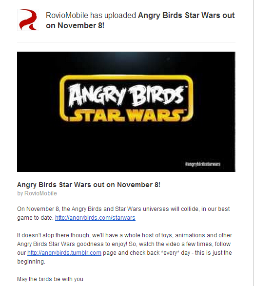 Angry Birds Star Wars Mail