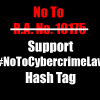 Petitioners To Unify Against R.A. No. 10175 Anti Cybercrime Law With #NoToCybercrimeLaw