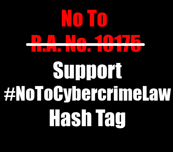 NoToCybercrimeLaw Hash Tag