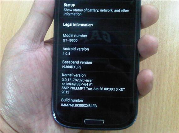 Samsung Galaxy S III Android 4.0.4