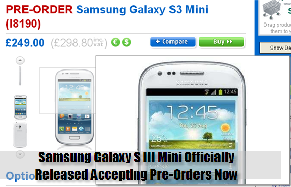 Samsung Galaxy S III Mini Officially Released Accepting Pre-Orders Now