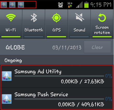Removing Samsung Push Service and Samsung Ad Utility