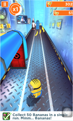 Despicable Me Minion Rush Game First Stage