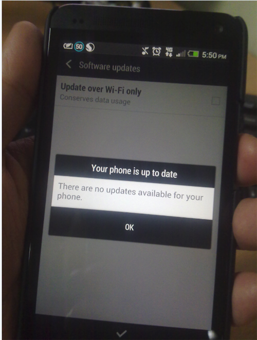 HTC One Android 4.2.2 update Waiting for it