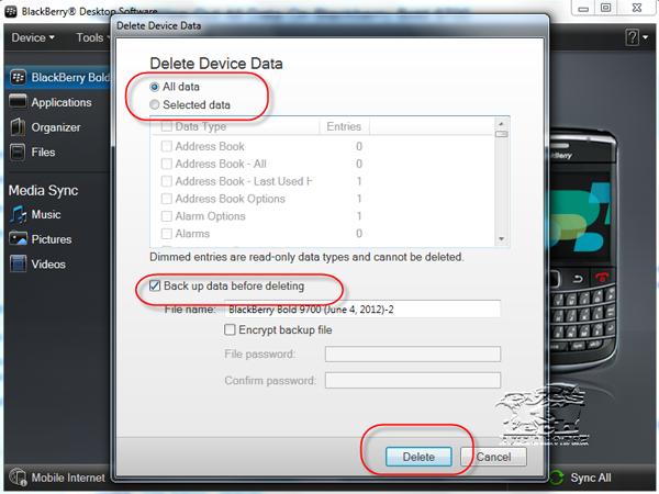 Delete Device Data
