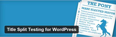 Title Split Testing for WordPress
