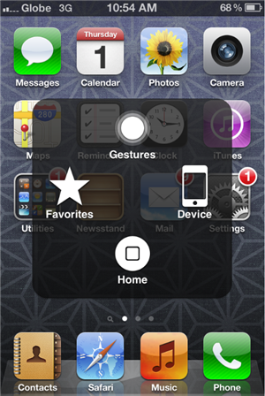 Assistive touch iPhone 4S