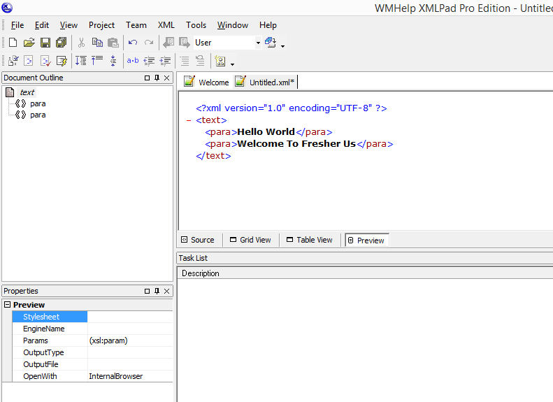 WMHelp XMLPad Amazing Free XML Editor