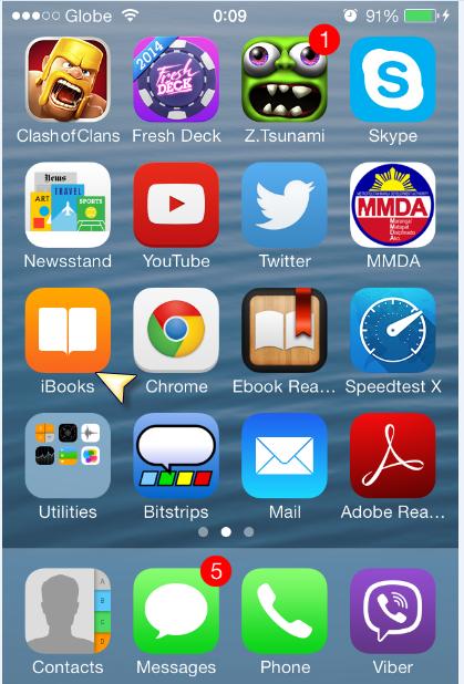 iBooks Home Screen