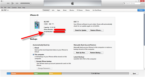 Check if an iPhone is Original or Fake - Apple iTunes