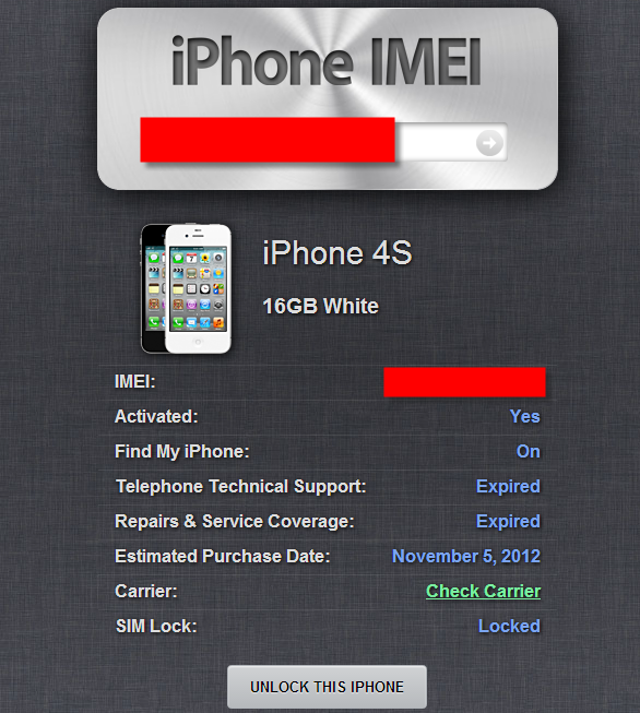 iPhoneIMEI.info - A Free iPhone Unlock Checker