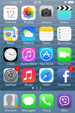 How To Turn Off Cellular Data on iPhone 4s - Tap Settings