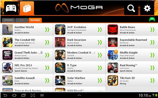 MOGA Pivot App from Google Play