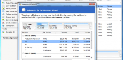 Copy partition to safely transfer data with EaseUS Partition Master