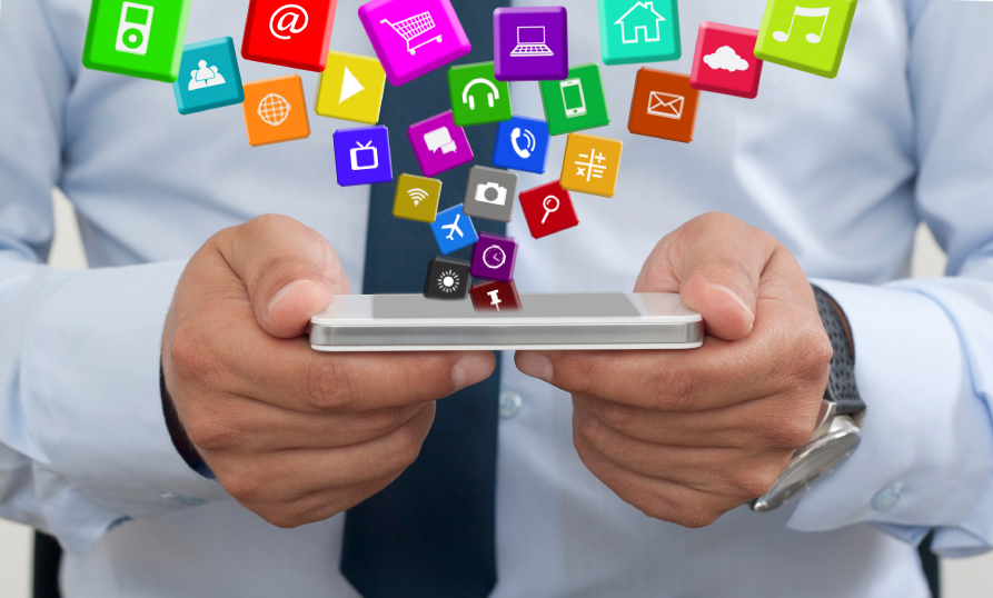 Using a mobile phone with Apps