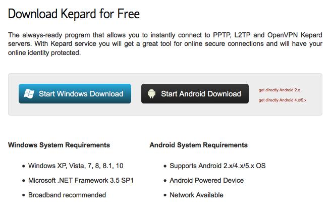Download Kepard VPN for Free