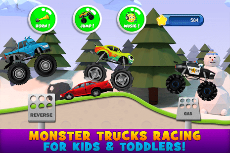 Kids Games - Monster trucks